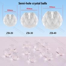 factory 20mm Diamond fiber optic light ball Crystal Bead for Chandelier pendant ceiling light