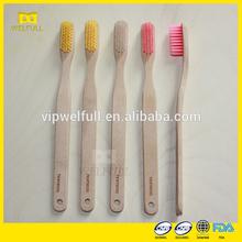 Free Sample OEM 100% Biodegradable ECO Bamboo Toothbrush KIDS travel toothbrush