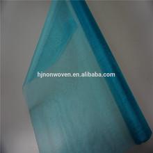 100% nylon light blue organza curtain fabric for living room