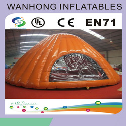 Orange outdoor inflatable tent , inflatable camping tent on sale