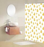 Cartoon Shower Curtain Childrens Shower Curtain Duck Shower Curtain