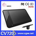 tableta de dibujo profesional y la pluma magnética ugee cv720 para los diseñadores