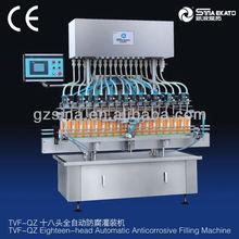 guangzhou sina ekato the newest anti-corrosive liquid bottle filling machine, bleach filler