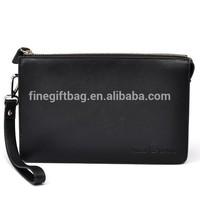 Smooth Nappa Genuine Leather Mens Wristlet Bag Customized