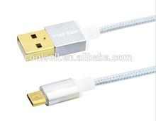 braided nylon 3M Micro USB data Cable