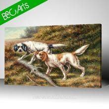 white dogs painting waterproof digital printing photo canvas