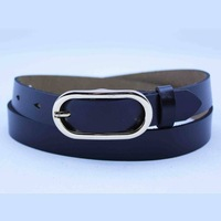 Wholesale Women's fashion belt with oval shape buckle