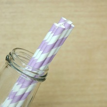 trending hot products cute drinking purple striped Paper Straws for birthday