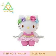 rose hoop plush hello kitty stuffed toys