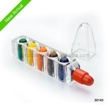 2014 New Arrival 6 Color Bullet Shape Wax Crayon Mix Color