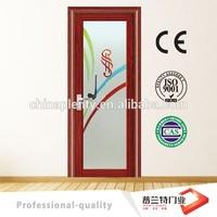 interior glass panel alumnium door