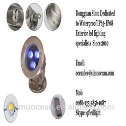 Modern IP68 3 w Cool white Waterproof Led Underwater lighting for pool, pond from 5 Years Dongguan simu factory free sample
