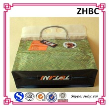 Zipper plastic packaging pouch with hang hole