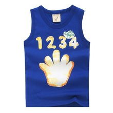 Soft felling custom baby tank top with reactive printing