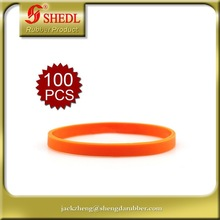 Thin Silicone Wristbands, Rubber Bracelets, Party Favors, Christmas Gift Idea orange