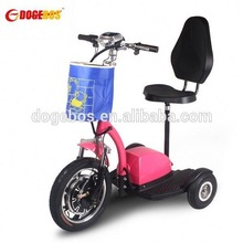 350w/500w lithium battery children electric scooter with front suspension