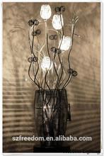 Aluminium black Flower lampshade hotel/restaurent/living/hotel table lamp