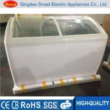 138L White glass small refrigerator freeze ice cream