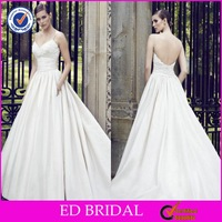 ED-YH2318 Vestidos de Novias Spaghetti Straps V-neck Ball Gown Wedding Dresses