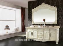 Antique fancy bathroom cabinet/double sink bathroom vanity