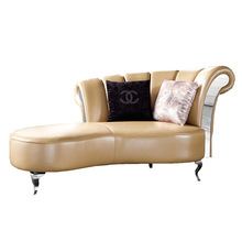 LV-550 sofa covers with chaise lounge / luxury chaise lounge / genuine leather chaise lounge