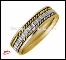 18K Rose Gold Gear Pattern Men's Wedding Band ring (5.5mm)
