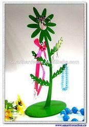 Sunflower metal jewelry holder Hanging jewelry organizer