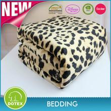 SEDEX BSCI Factory Certification OEM High Quality Animals Print Micro Mink Sherpa Blanket