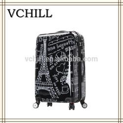 Graffiti Print PC ABS Hardside Carry-On Luggage
