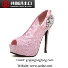 2015 Bud silk shoes lady elegant sandals wholesale new design ladies summer high heel sandals party shoes The wedding the bride