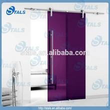 long handle colored glass sliding door