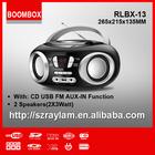 Portable CD Player FM Radio with USB MP3 RLBX-13