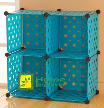 DIY Modular Cube Storage, teal