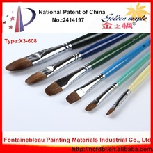 Art Supplies High Quality Professional Drawing Brushes Artist Acrylic Paint Brushes Weasel Hair Long Wooden Handle Brushes