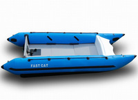 SANJ PVC Hull Inflatable Fast Cat Boat with Good Quality