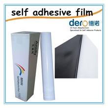 Hot sale self adhesive vinyl film roll for bus body advertising with black glue