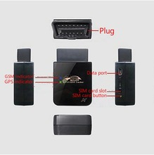 Free online software GPS SIM card tracker easily to plug & play in car obd port