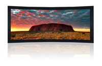"133"" 2.35:1 Cinemascope Curved Fixed Frame Screen - Black Velvet Frame 10Cm"