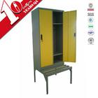 Factory price double door steel bench clothing cabinet