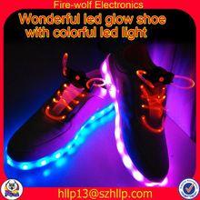Guangzhou canvas led flashing shoe factory canvas glow flashing shoe manufacturer