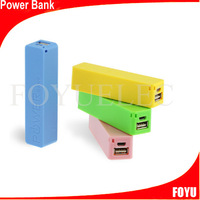 2014 fashionable best selling cylinder shaped aluminum power bank 2600mah 9 colors for mixed up power bank 2600 mah