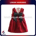 حار بيع الأزياء فستان القطيفة القطيفة الأطفال القوس شيال
