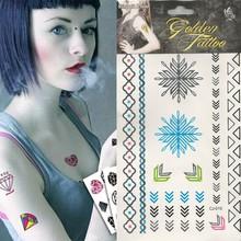 2015 Fashionable Flash New Waterproof Temporary Tattooe Kit