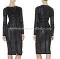 Venda quente vestido comprar roupas retas da china mini vestido preto de couro