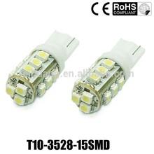 15 led 3528 smd w5w / 194 / T10 led lights car, Auto led, led Car led