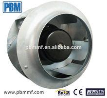 250 AC backward curved centrifugal fan