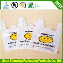 plastic bag printing/thank you bags/vest carrier bags