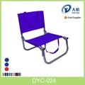 de aluminio de baja del asiento de silla de playa