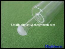 Ground Neck Clear Quartz Gass Tube