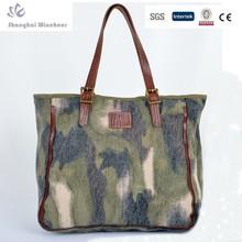 2014 HOT SELLER! Unisex fashionable camo canvas handbag